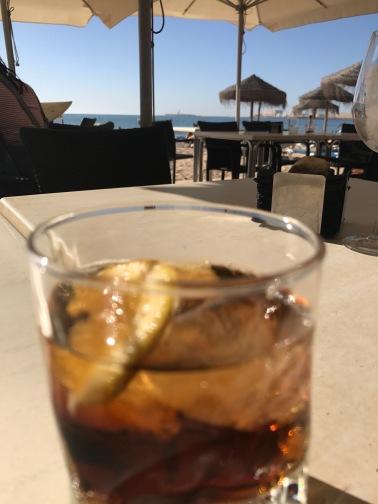 Drinks at the beach cafe , Cádiz