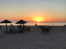 Sunset at Cádiz beach