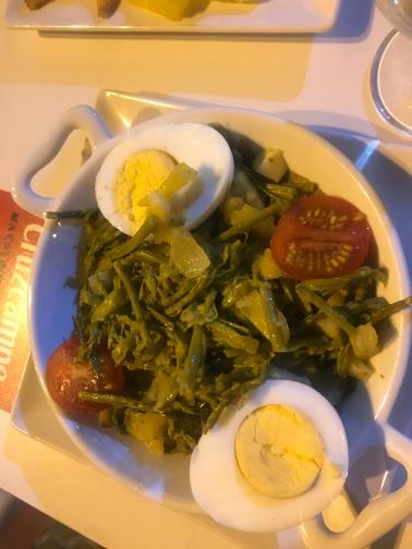 esparrago revuelto( scrambled asparagus)