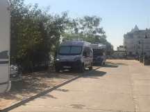 Our parking spot at Puerto Gelves, Spain