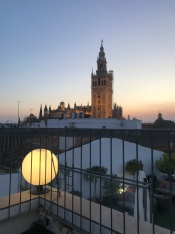 Seriously good view from Eurostar hotel in Sevilla