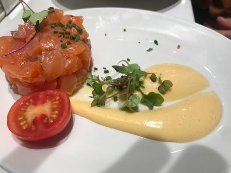 Salmon tarter at La Azoteca, seville