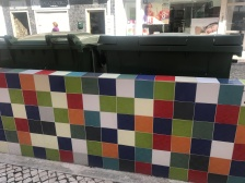 Even the garbage bins are hidden behind beautiful tiled walls