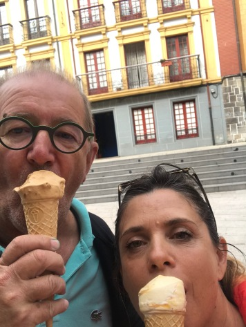 Ice cream at Candás, Spain