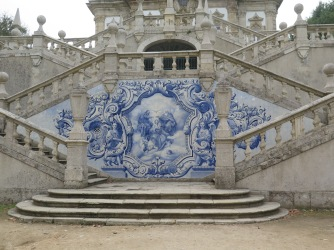"The steps and the Azulejos of the ""Sanctuary"" the Nossa Senhora dos Remédios"