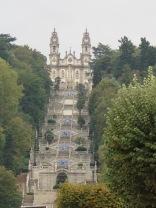 "The view from the town up those 650 steps to ""Sanctuary"" the Nossa Senhora dos Remédios"