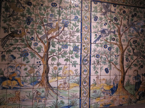 Azulejos panels in Lamego Museum
