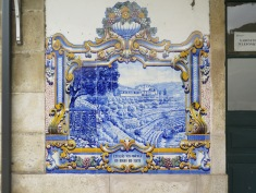 Azulejos at Pinhão train station