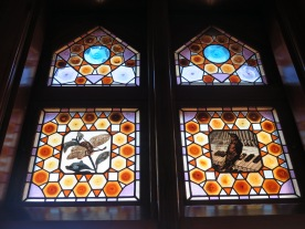 Stained glass windows at Capricho de Gaudi