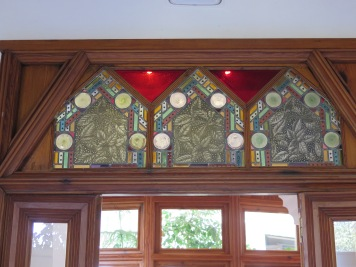 Stained glass at El Capricho de Gaudi