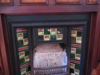 Tiled fireplace at El Capricho de Gaudi