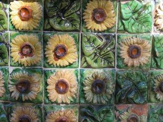 Glazed ceramic tiles at El Capricho de Gaudi