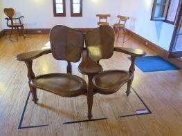 Chairs in the attic at El Capricho de Gaudi