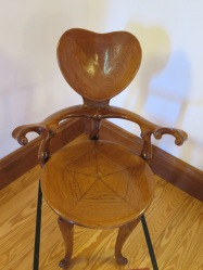 Chair designed by Gaudi at El Capricho de Gaudi