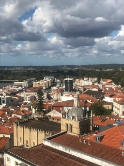 View from the top of the hill over Coimbra