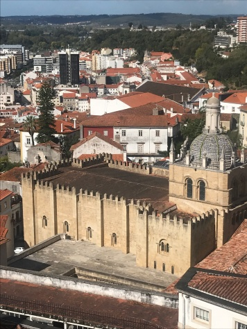 View over the cathedral from Coimbra hill