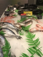 Fish counter , one of many at the Carrefour León