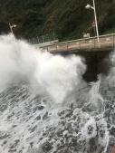 Waves crashing at Candás