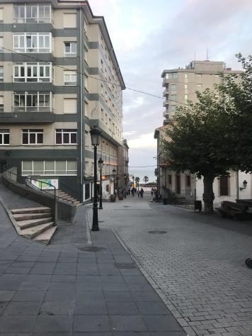 Village street in Candás