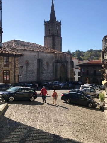 Church square in Comillas