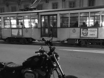 Old style trams in Milan..