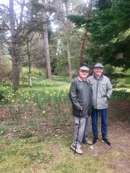 Dad and son at Inchmarlo , Banchory
