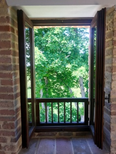 View from the room, Tabiano Castello