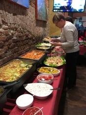 Buffet spread for aperitivo, Milan
