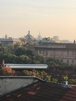 View from our apartment towards to the Duomo in the distance