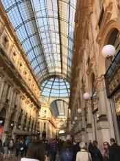 Shopping arcade in Milan , close to the Duomo