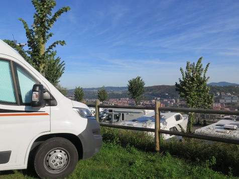 Our sleep spot ,camp site above Bilbao