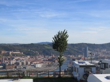 View from camp site above Bilbao