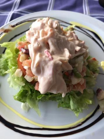 Seafood Salad, Getaria Spain