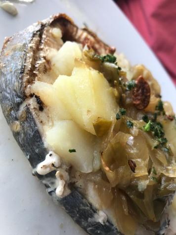 Fresh fish & potato's in Getaria Spain