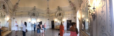 our guests admiring the castle rooms