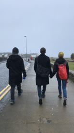 Walking the prom in Salthill, Galway