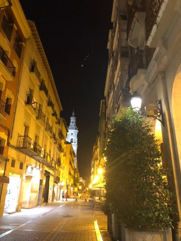 Logroño at night.