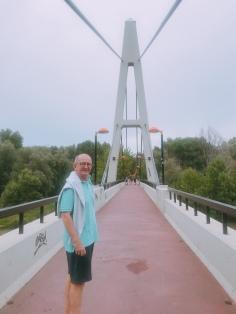 Bridge over the river Ebro. Logroño