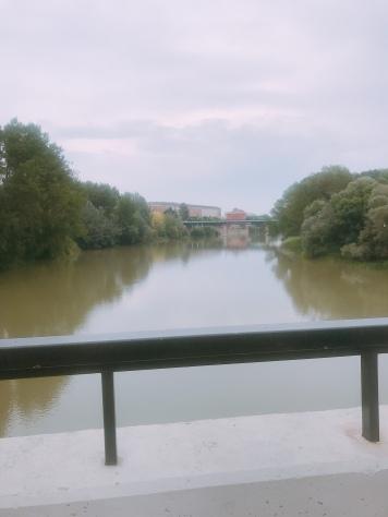 The river Ebro , Logroño
