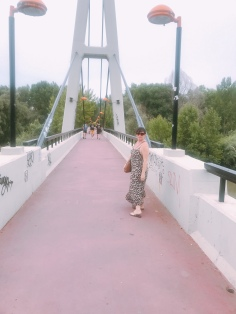 Walking into Logroño