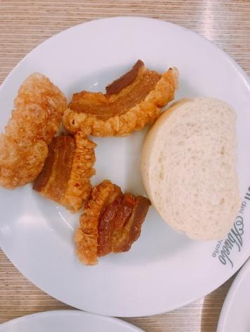 Crispy pork tapas