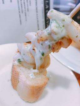 Sepia( squid) grilled on brochetta, Logroño
