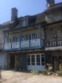Houses along the riverside in Argentat, France