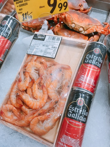 Prawns and beers for E9.99