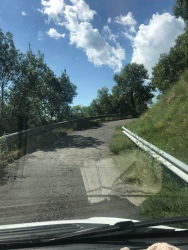 Narrow road, Chris loved it