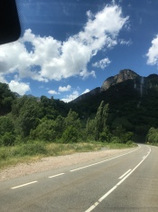 Driving on the Pyrenees towards France