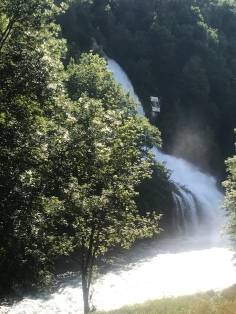 Waterfalls gushing down the mountains - Beyréde, France