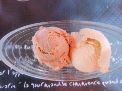 cafe and vanilla ice cream in Saint Médard de Guizières