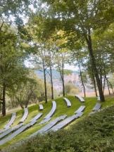 """The outdoor theatre :""""Les Jardins de l'Imaginaire""""."""