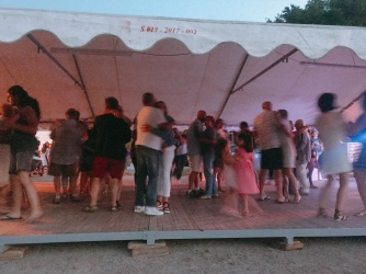 Oldies have a dance at Féte National in Beaulieu-Our-Dordogne